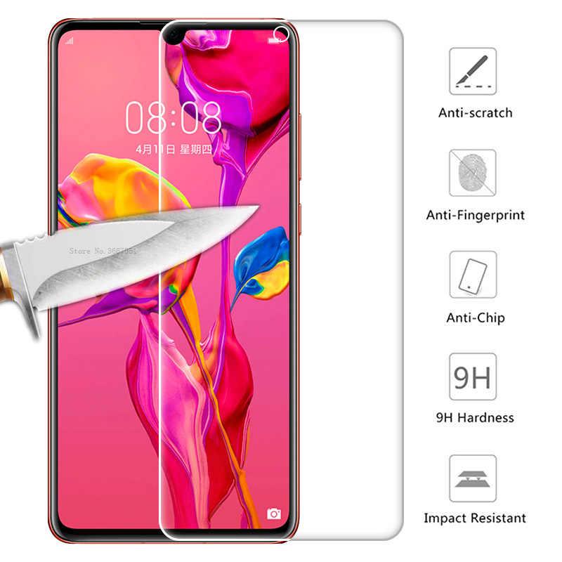 Zabezpieczenie ekranu folia do Huawei P30 P20 Mate 20 10 Lite P Smart Nova 3 3i z biała krawędź eliminuje rewizję cieczy