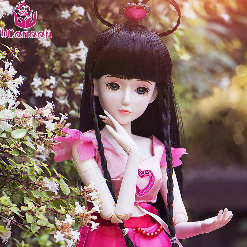 Ucanaan 1/3 Large BJD/SD Doll Toys Model Joints Moveable Wang Mo Flower Fairy Offer Make Up Pretty As lmportant Gift uncle 1 3 1 4 1 6 doll accessories for bjd sd bjd eyelashes for doll 1 pair tx 03