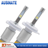 H7 LED H1 H3 H4 H11 H8 H9 9005/HB3 9006/HB4 5202 80W 9600LM Headlight 6000K Auto Front Bulb Headlamp Fog Lights Car lighting 12V