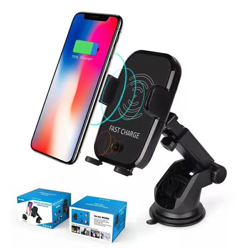 NTSPACE Car Infrared Sensor Automatic Qi Fast Wireless Car Mobile Phone Charger for iPhone X 8 Plus Samsung S9 S8 Plus S7 Note 8 in Mobile Phone Chargers from Cellphones Telecommunications