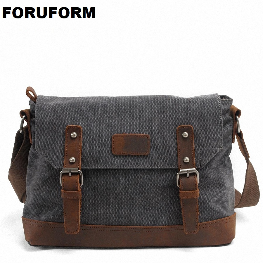 2018 Men Messenger Bags High Quality Canvas Shoulder Bag men's Travel Bags Fashion 13 Inch Laptop Briefcase Business Bag LI-1493 aosbos fashion portable insulated canvas lunch bag thermal food picnic lunch bags for women kids men cooler lunch box bag tote