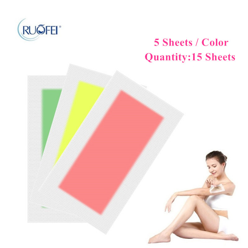 15sheets=30pcs Hair Removal Double Side Depilatory Epilator Wax Strip Paper Pad Patch Waxing For Face/Legs Body/Bikini/Underarm