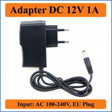 12V 1A EU Plug AC DC Adapter AC 100-240V Input Converter Adapter DC12V Charger Power Supply For LED Strip CCTV Router ADSL HUB