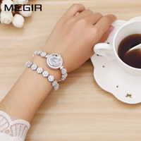 MEGIR Luxury Women Watches Dress Relogio Feminino Clock Watch Women Montre Femme Quartz Ladies Watch For