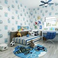 Hot Sale Cartoon Dogs Embossed Brick Wall 3D Wall Paper For Kid Room Bedroom Children Wallpaper