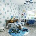 Caliente Venta de Perros de la Historieta En Relieve de Ladrillo Pared 3D de papel Para Kid Dormitorio Sala de Niños Wallpaper Rollos Cozy Azul Rosa Beige 36090