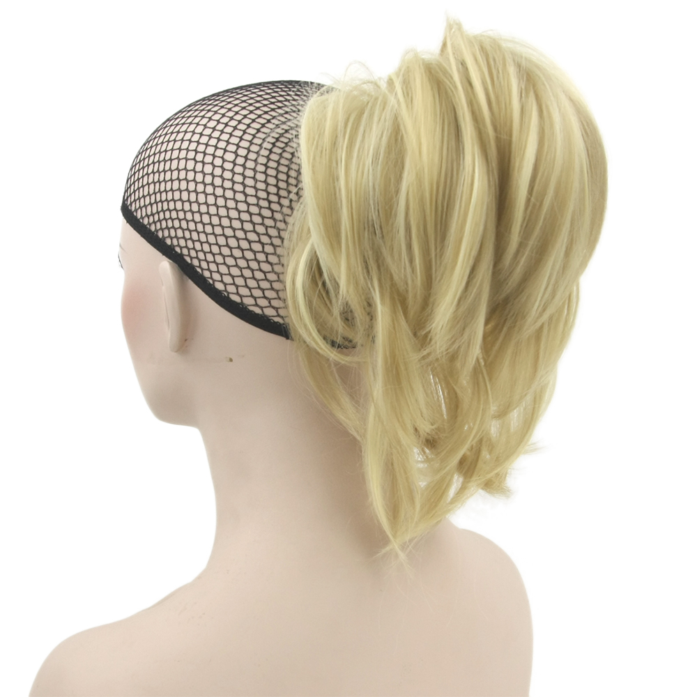 Soowee Curly Claw Ponytail Hairpieces Synthetic Hair Blonde Burgundy Clip In Hair Extensions Little Pony Tail Hair Roller