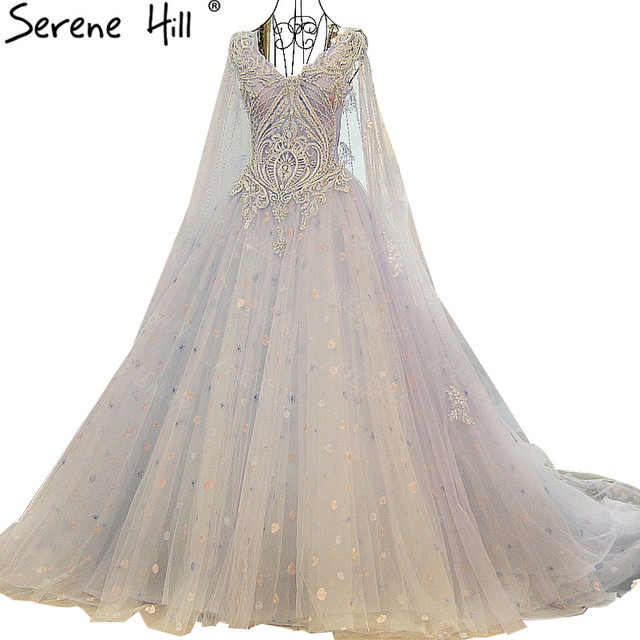 100% echt Bild Lange Hochzeit Kleid Blau Farbe Perlen Pailletten ...