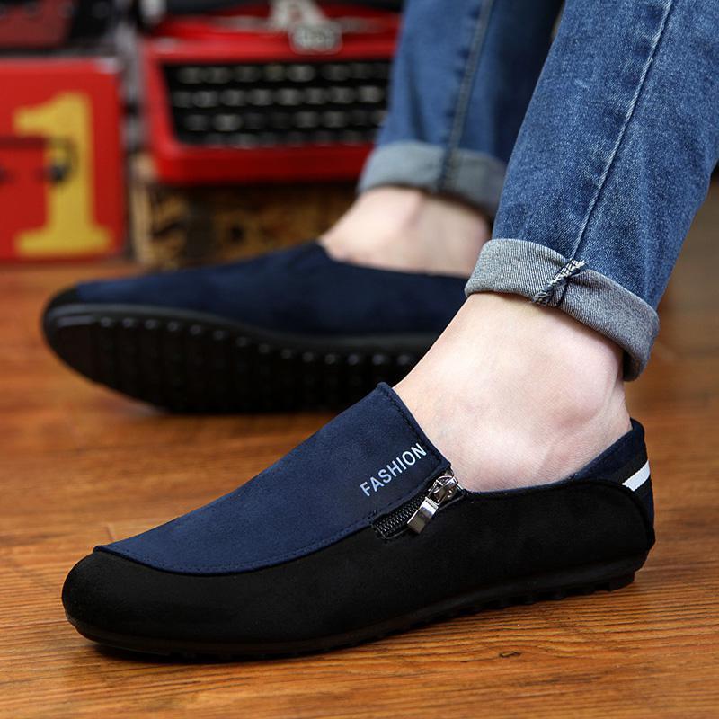 Alpargatas Mocasines Casuales Hombres Zapatos Mocasines Nuevo 2016 Verano caliente Estilo Transpirable Slip,on Negro