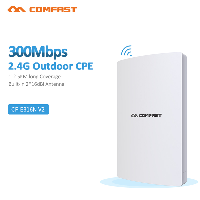 COMFAST CF-E316N V3.0 300Mbps wireless AP / network bridge / outdoor wifi CPE / repeater / signal amplifier free shipping