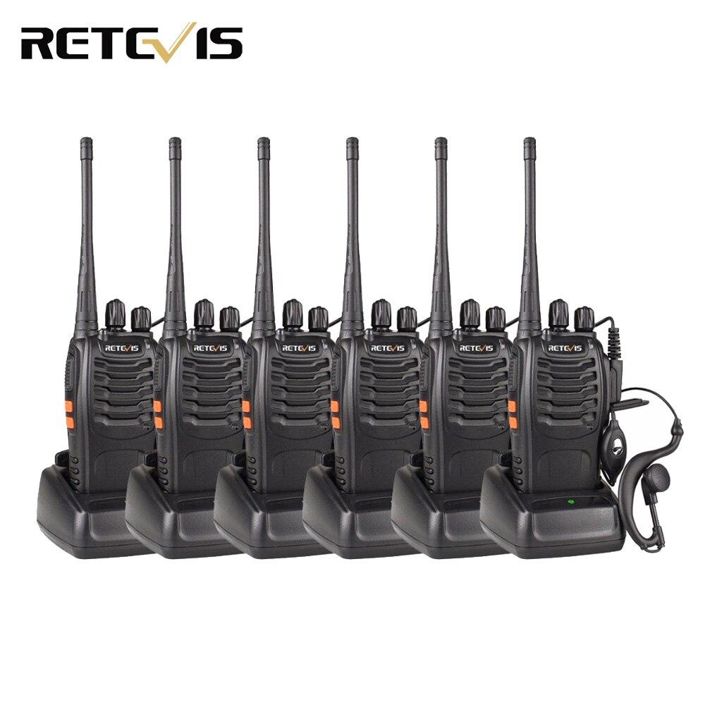 6pcs Retevis Walkie Talkie H777 3W UHF 400-470MHz de Freqüência de Rádio Portátil Presunto Rádio Transceptor Hf comunicador Prático