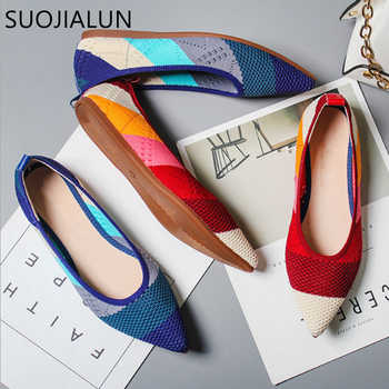 SUOJIALUN 2019 Spring Women Flats Pointed Toe Slip on Ballet Flat Shoes Shallow Boat Shoes Woman Loafer Ladies Shoes Zapatos - DISCOUNT ITEM  43 OFF Shoes