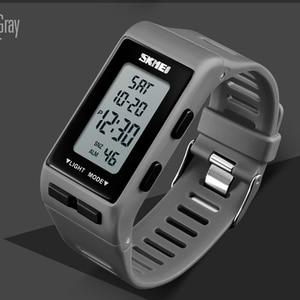 Спортивные часы для мужчин и женщин, светодиодные часы с обратным отсчетом, мужские часы с будильником, цифровые наручные часы, водонепроницаемые часы 50 м, reloj hombre SKMEI 2018