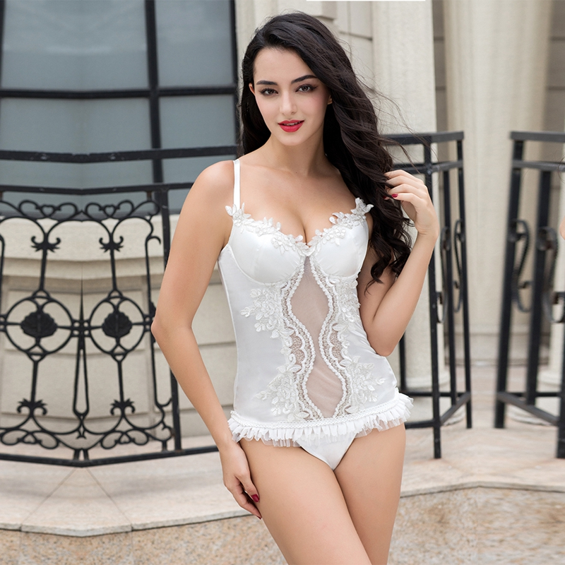 White lace corset waist trainer body shaper sexy shapewear women slimming underwear chest binder lingerie outfit binder trains
