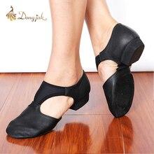 Hakiki Deri Streç Caz Dans Ayakkabıları Kadınlar Için Bale Jazzy Dans Öğretmenler erkek Dans sneaker Sandalet Egzersiz Ayakkabı 1305