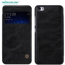 Nillkin Цинь Моды Натуральная Кожа Телефона Чехол Для Xiaomi MI 5 m5 MI5 Противоударный Откидная Крышка