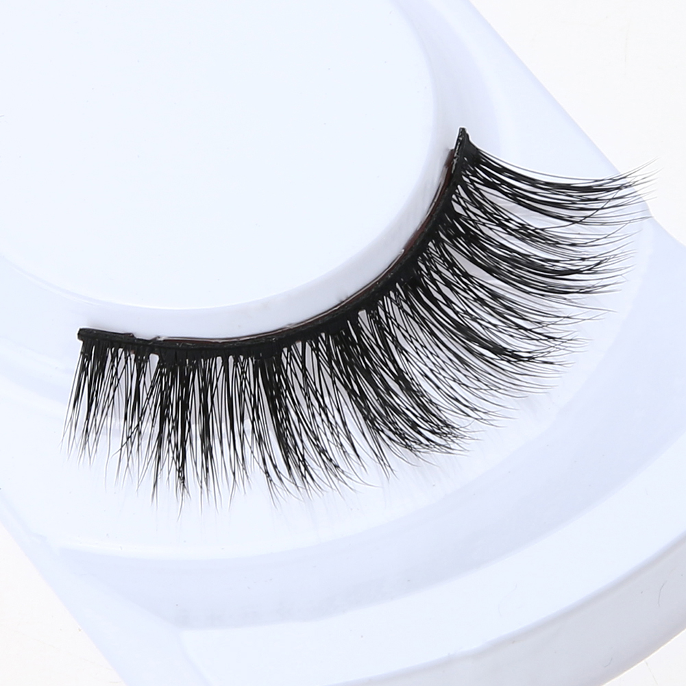 1 Pair 100% mink hair Natural False Lashes Eyelashes Makeup 3d Mink Lashes Eyelash Extension Make Up Long Lasting Lashes