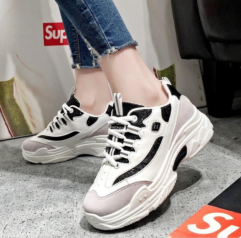 Été Noir Casual Nouveau Femmes Chaussures 2018 blanc De Blanc TwSOdZqxq