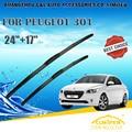 "Para PEUGEOT 301 (Todos Os anos) 2005 2006 2007 2008 2009 10 11 Car Windscreen Windshield Wiper Blade 24 ""+ 17"" acessórios de estilo de carro"