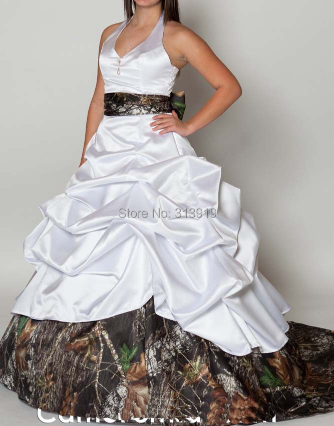 Halter Mossy Oak Bridal Gowns Camouflage Wedding Dresses 2017 Custom Make  Free Shipping  In Wedding Dresses From Weddings U0026 Events On Aliexpress.com  ... Photo Gallery