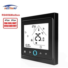 HESSWAY 2pipe 3 speed cooling heating Remote Terminal Unit THERMOSTAT for RS485/MODBUS communication