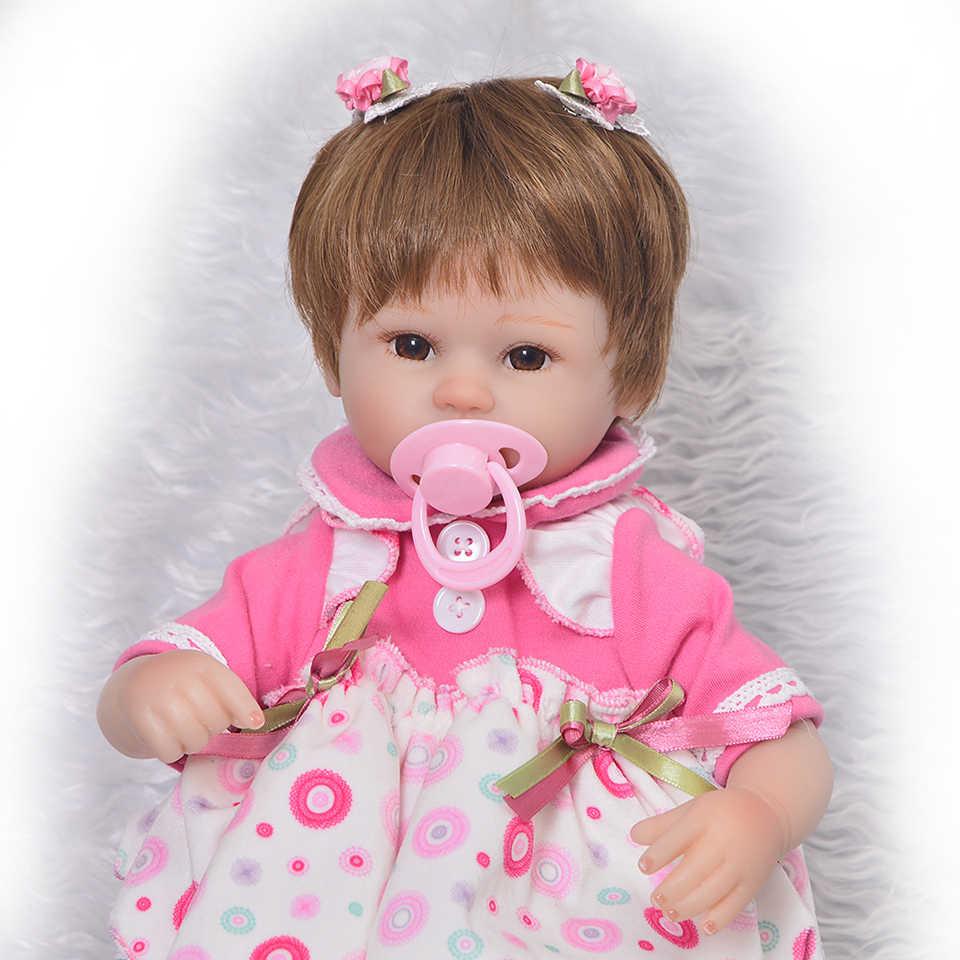 Muñecas de bebé Reborn de silicona suave coleccionable de 17 pulgadas, bebés realistas de 43 cm, juguete Reborn para niña con manta para niños, regalos de cumpleaños