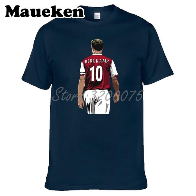 huge discount 13f0b 49963 US $16.05 15% OFF|Netherlands Men Ice prince 10 Dennis Bergkamp ICEMAN T  shirt Clothes T Shirt Men's for fans gift o neck tee W18050701-in T-Shirts  ...