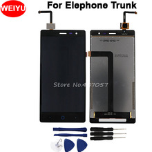 Elephoneトランクlcdディスプレイとタッチスクリーン100% 1280 × 720スクリーンデジタイザアセンブリの交換 + ツール