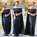 One Slash Grape Off Shoulder Women Trench Maxi Dress Elegant Special Style Women Maxi Dress