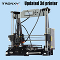 Tronxy atualizado qualidade alta precisão reprap 3d impressora prusa i3 kit diy p802e e3dv5 bowden extrusora auto nivelamento
