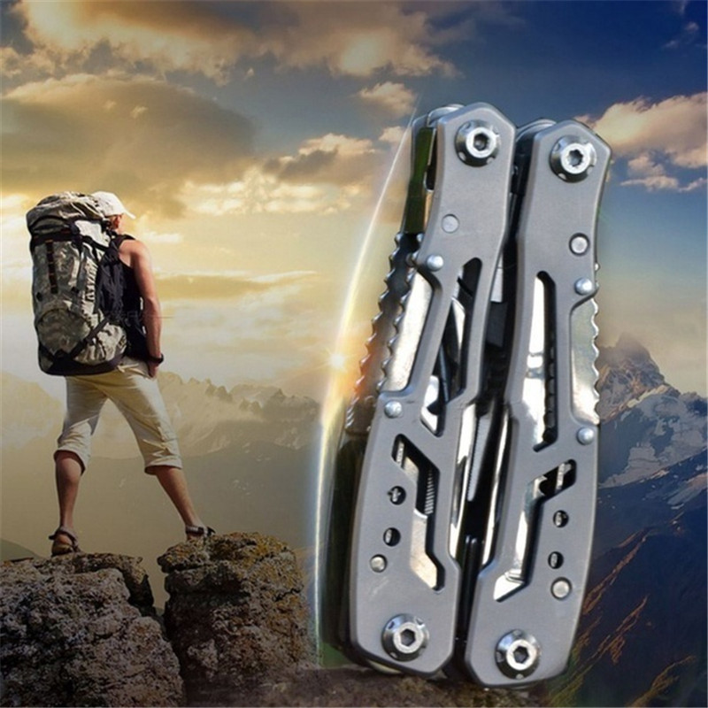Outdoor Camping Survival Tools Multi Tool Pliers Versatile Repair Folding Screwdriver Stainless Steel EDC Gear Hunting Hiking
