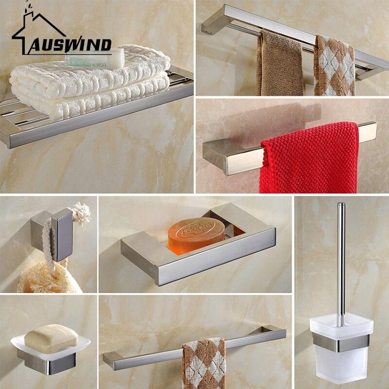 Moderne Sus304 Edelstahl Bad Hardware Sets Chrom Poliert Badezimmer ...