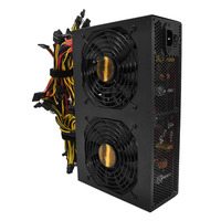 High Efficiency Rated 3450W Active PFC Power Supply with 14CM Low Noise Cooling Fans for Bitcoin Mining Machine High Performance