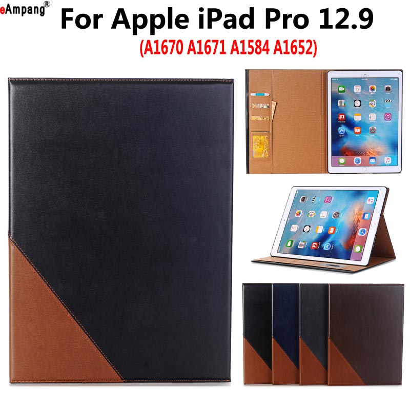 Premium Leather Case for Apple iPad Pro 12.9 2017 2015 A1671 Smart Case Cover Funda Tablet Slim Flip Magnet Sleep Stand Shell футболка wearcraft premium slim fit printio шварц