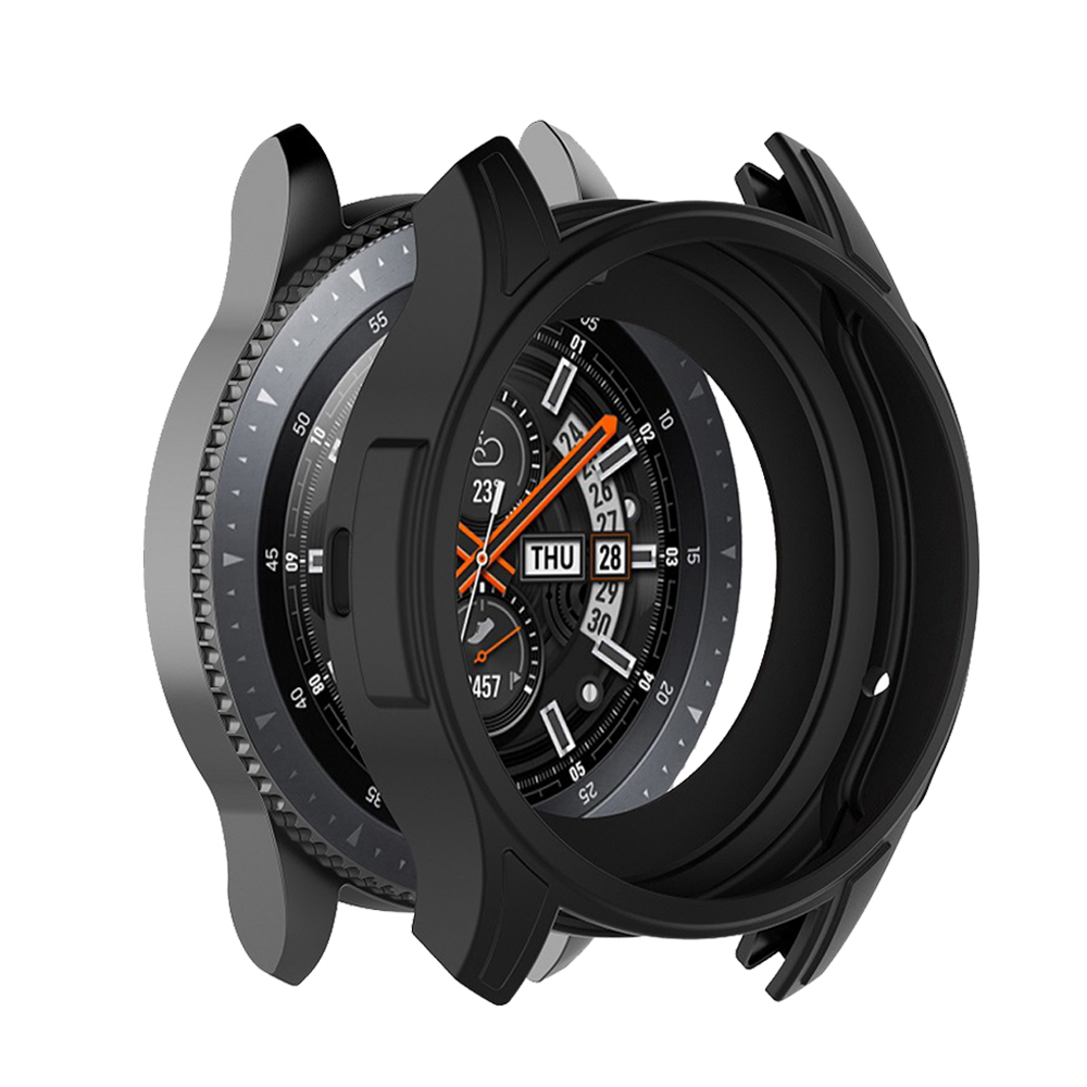 Case For Samsung Gear S3 Frontier Cover Galaxy Watch 46mm 42mm Band Strap Universal Soft Silicone Protective Case Shell Frame