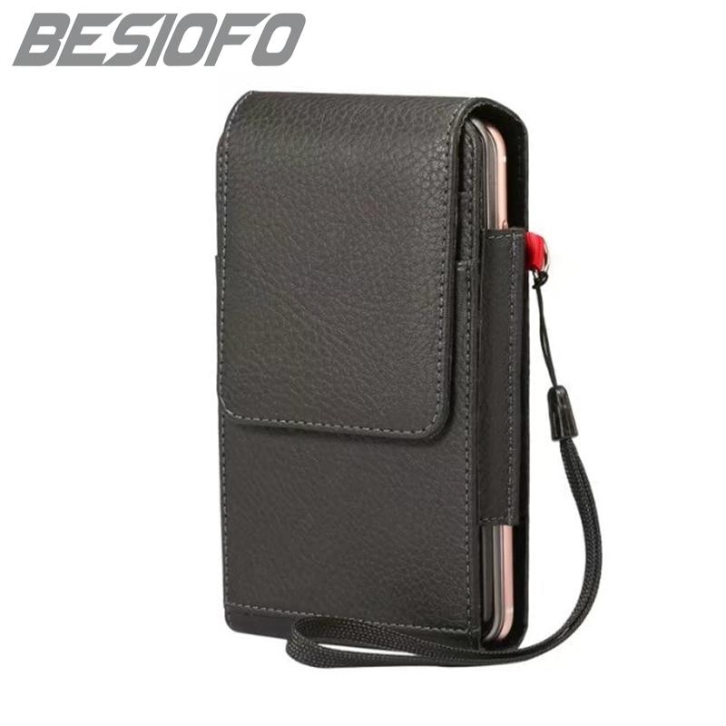 Vertical Phone Case For Lenovo K8 K8 Plus S8 S920 Mini With Belt Clip Pouch Double Pockets Card Slot Holster Magnetic Sport Bag