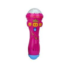 New Children Emulated Music Toys Funny Lighting Wireless Microphone Model Gift Music Karaoke Light Toys For Kids Gifts