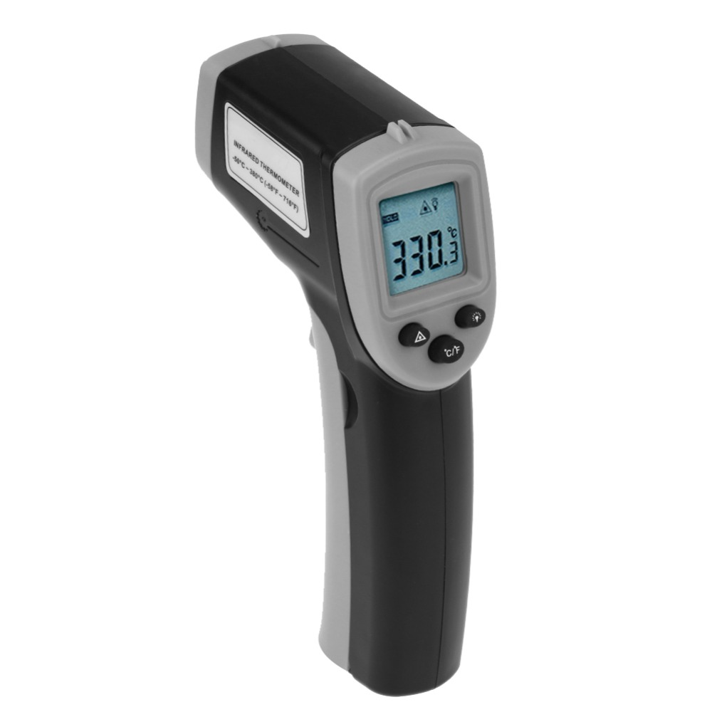 Handheld Thermometer Digital LCD Non-Contact IR Pyrometer Temperature Meter Gun Laser Infrared Thermometer Laser Gun elecall 50 800c adjustable emissivity autooff lcd noncontact digital laser infrared thermometer ir high temperature gun tester page 9