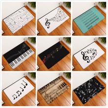 Klawiatura pianina nuta dywan z pianki memory dywaniki dywan flanelowy dywan łazienka wycieraczka czysta mata dywaniki do dekoracji wnętrz tanie tanio SHIERJU Modern Japoński i koreański Maszyna wykonana Prostokąt Piano Keyboard Music Note Modlitwa Dekoracyjne Sypialnia