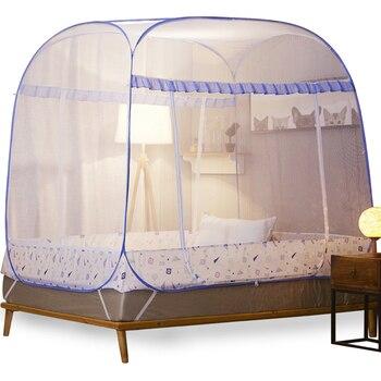Romantic Elegant Mongolian Yurt Mosquito Net For Home Decor 1.5 1.8m Double Bed Net Princess Bed Mosquito Net Tent Mesh Netting