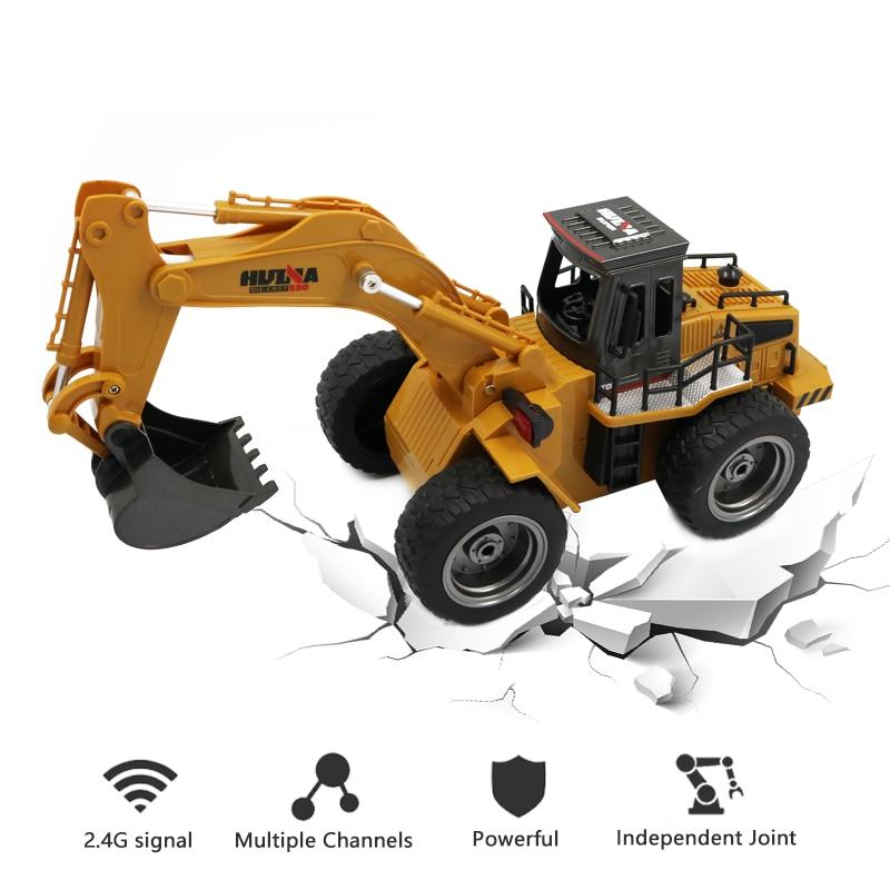 Spielzeug Für Jungen Rc Bagger Hydraulische 15 Kanal Rc Remote-gesteuert Auto 2,4g 1/18 Anteil Huina Spielzeug Sammeln & Seltenes