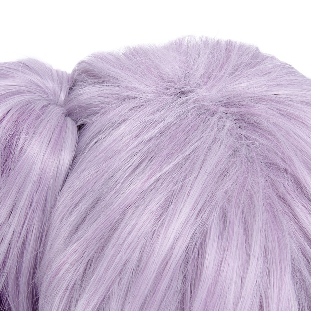 ROLECOS Game Character LOL Cosplay Headwear Luxanna Cosplay 30-45cm Dark Element SKin Cosplay White Purple Cosplay Hair