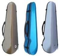 Yinfente Carbon Fiber Violin Case 4/4 Strong Violin Box Gray Blue Color Light For Girl