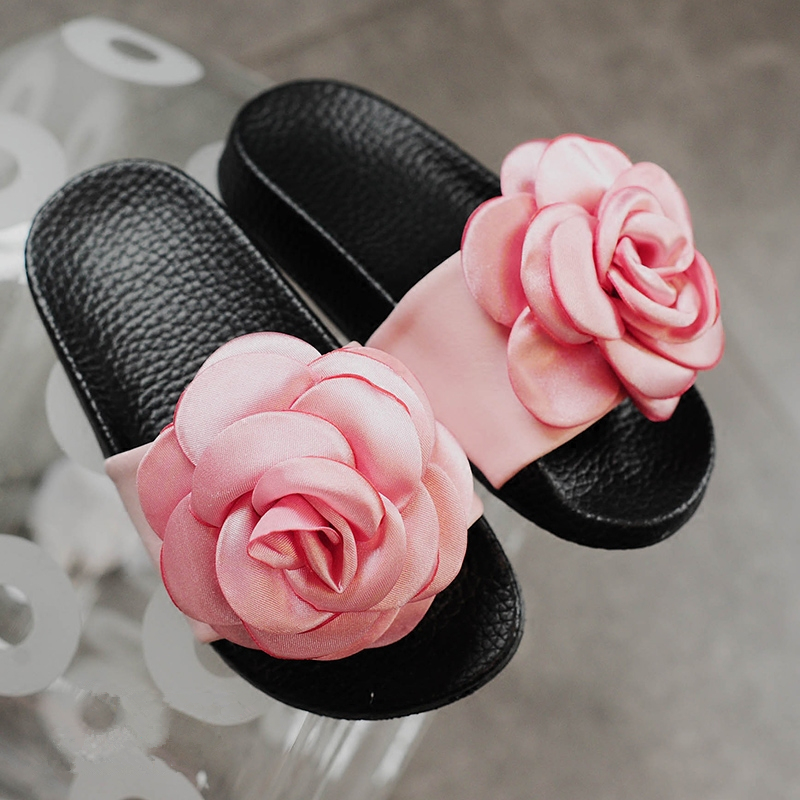 25fba34f337cc7 KIDS TOP STAR~Summer Beauty Floral Sandals for Bay Girls Princess Slides  Beach Shoe for Kids Casual Slipper Children s Shoes