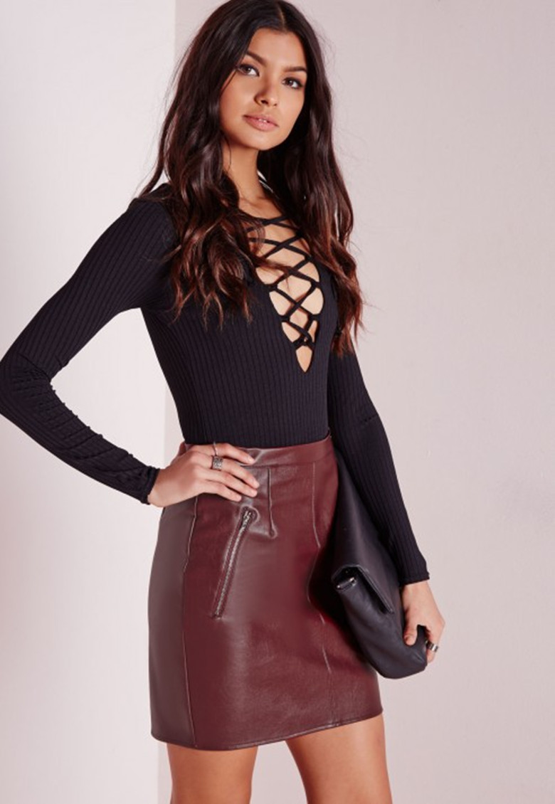 Popular Fake Leather Skirt-Buy Cheap Fake Leather Skirt lots from ...