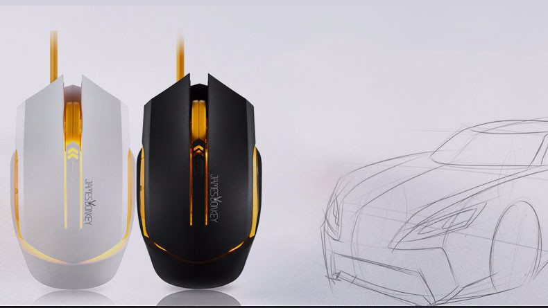 USB 2 0 100% James Donkey 112 Gaming Wired Mouse Speed with Free Driver  Perfect lighting system Comfortable Hand Feeling Mice-in Mice from Computer  &