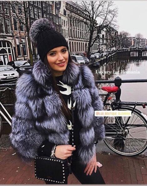 Top de luxo Pares Coleções Presente de Natal Natural casacos de pele de raposa com gola Deslumbrante incrível wholepelt casacos de peles