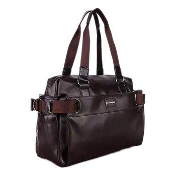 TFTP 2018Men maletín Casual de negocios, bolsos de mensajero de cuero, bolsos de ordenador portátil, bolsos de viaje para hombre