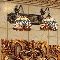 טיפאני ים התיכון בציר זכוכית פמוט קיר בית קפה רטרו מבואה מקורה luminaria חדר שינה ליד מיטת תאורה לאמבטיה