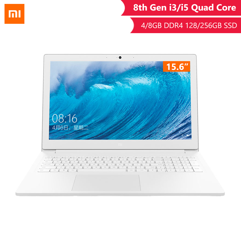Ordinateur portable d'origine Xiaomi 15.6 pouces 8G/4G RAM DDR4 256G/128G SATA SSD ordinateur portable I3/I5 Quad Core ordinateurs portables avec Dolby Audio